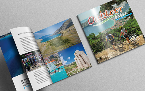 BAŠKA OUTDOOR MAP AND BROCHURE